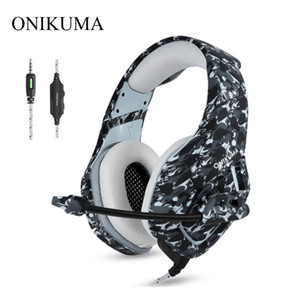 ONIKUMA K1 Gaming Headphones Camouflage Wired Deep Bass Headsets Casque with Microphone for Laptop PC Gamer PS4 Mobile