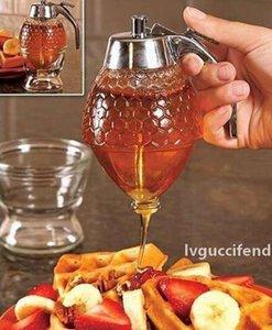 Honey Pot Distributeur jus Container sirop bouilloire cuisine Bee goutte à goutte Support à portable acrylique Pot de stockage