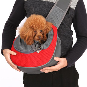 Pet Köpek Kedi Taşıyıcı Omuz Çantası Ön Konfor Nefes Travels Bez Tek Omuz Çantası Köpek Taşınabilir Pet Sırt Çantası Pet KKA1621 Malzemeleri