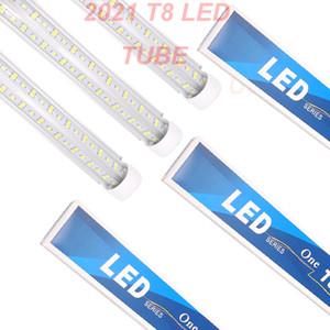 V-Shaped 2ft 3ft 4ft 5ft 6ft 8ft Cooler Door Led Tubes T8 Integrated Led Tubes Double Sides Led Lights Stock In US