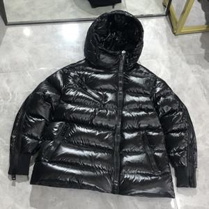 Мужчины Женщины Даун Пальто Топ-Качество Парки с 90% Теплый Легкий Световой Вес Удобный Черный Цвет с Черным Розовым Подкладками 3 Размер
