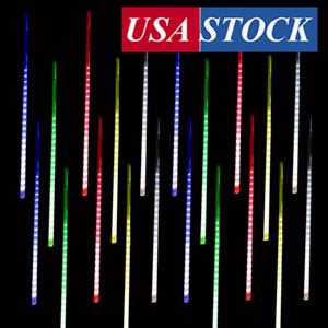 50 cm 10 Tuben 480 LED Meteor Dusche Regenlichter, Drop / Icle Schnee fallende Regentropfen Cascading Lights Hochzeit Party Weihnachten (Multicolor)