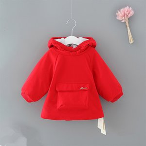 2021 New Winter Girls Faux Fur Coat Fleece Snow Warm Clothes Baby Hooded Jacket Children Outerwear 0-2y X1u8