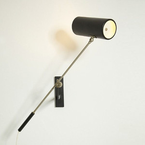 modern led wall sconce light black bedroom living room Rotatable wall lamps  home decor bedroom light fixtures