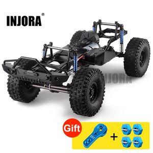 "Injora 313mm 12.3 ""Wheelbasis montiertes Rahmen-Chassis für 1/10 RC-Raupenauto SCX10 SCX10 II 90046 90047 201105"