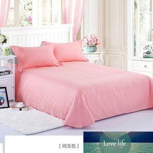 100% Cotton Jade Color Flat Sheet For Children Adults Single Double Bed Flat Bedsheets XF632-9