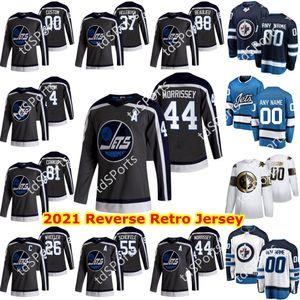 Winnipeg Jets 2021 Reverse Retro Jersey 14 Ville Heinola Marko Dano Nikolaj Ehlers Adam Lowry Mathieu Perreault Hockey Jerseys Custom
