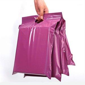 Selbstdichtungsklebstoff-Tragetaschen dicke wasserdichte Kunststoff-Poly-Hülle lila Express-Kurier-Taschen Geschenke Mailing1