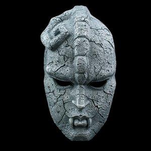 Piedra fantasma cara resina máscara juvenil cómics jojo increíbles aventuras gárgolas temá máscaras Halloween masquerade party props y200103