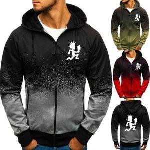 Homens Moda Hatchetman Manga Longa Hoodie Jackets Pullover Zipper Casaco Hip Hop Gradient 3D Sweatshirts Outerwear1
