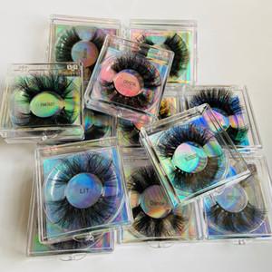 Épaissement long de 25 mm de faux cils Extensions de faux cils super doux Vivid faux cils Mink Eye Maquillage Accessoire avec boîte 12styles RRA3781