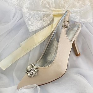 Women's Sling Back Pointed Toe Evening Dressing Shoes Glitter Party Shoes Wedding Guest Reception