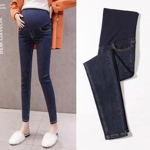 Schwangerer Frauen Hosen Herbst Jeans Frühling und Herbst plus Samt Außergewirr Leggings Mode Mutterschaftskleidung und Winte