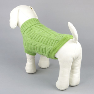 Autumn Winter Warm Pet Sweaters Fashion Solid Color Knitted Pet Apparel Teddy Bulldog Schnauzer Small Dog Clothes