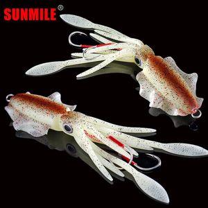 Sunmile Pesca Pesca Squid Lure 60G / 80G / 100G / 120G / 150G Luminoso / UV Squid Jig Jig Eli per pesca in mare Wobbler Bait 201030