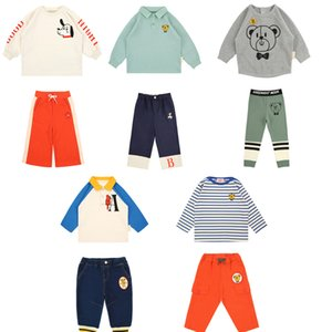 Bebe New Autumn Winter Kids Sweaters for Boys Girls Cute Dog Print Sweatshirts Baby Child Cotton Outfits Fashion Clothes 201020