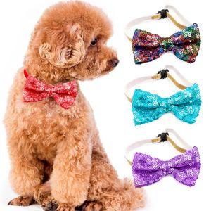 جديد الحيوانات الأليفة التعادل الترتر الكلب العلاقات طوق القوس زهرة اكسسوارات الديكور لوازم الأزياء اللون bowknot ربطة العنق