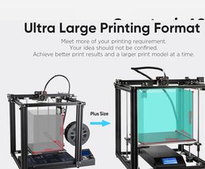 Creality 3D اندر 5 زائد 3D كيت الطابعة 350 * 350 * 400MM كبير حجم الطباعة دعم السيارات سرير الإستواء / استئناف طباعة / الشعيرة تشغيل المغادرة كشف / دوا