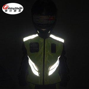 Riding Tribe Mototourisme Reflex Gilet Gilet fluorescent Uniforme Sécurité Voyage uniforme