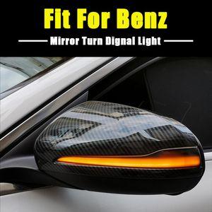 LED الحيوي بدوره إشارة ضوء وامض لC فئة W205 E W213 S W222 الجانبية الخلفية مرآة الرؤية المؤشر الوامض