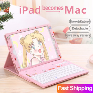 Case For Apple iPad Pro 9.7 10.5 11 inch 2017 2018 6 7 New 2019 10.2 iPad mini 5 4 3 Air 1 2 Cover with Bluetooth keyboard Cases