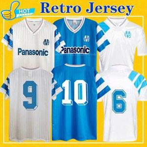 Retro Olympique de Marselha 1990 1991 1993 om futebol jerseys papina boli cantona waddle peles vintage 90 91 93 camisa de futebol clássico