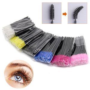 50Pcs Eyelash Brushes Makeup Brushes Disposable Mascara Wands Applicator Spoolers Eye Lashes Cosmetic Brush Paint brows Tools