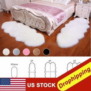 Sheepskin Faux Fur Carpets Rugs For Home Bedroom Kids Living Wicker Sofa Protection Set Garden Patio Rain Snow Dustproof