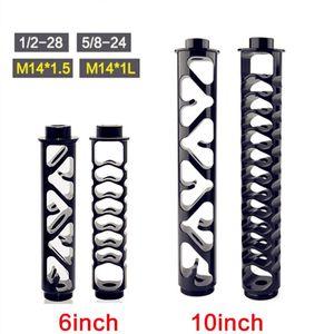 """6 """"10-Zoll-Spirale 1/2-28 5/8-24 Einzelkern Aluminiumrohrauto-Kraftstofffilter Lösungsmittelfalle für NAPA 4003 für WIX 24003"""