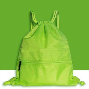 Women Men Sports Backpack Large Capacity Travel Practical Riding Nylon Solid Fashion Wear Resistant Anti splash Drawstring Lock