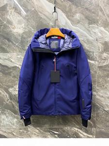 2020 Designer de alta qualidade qualidade venda quente novo inverno de inverno quente moda casual cor sólida mens longa jaqueta parkas casacos euro s-xx