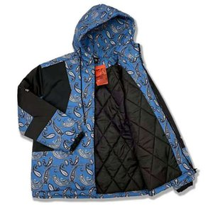 Moda Tasarım erkek kadın Karakfcı Çiçek Baskılı Gevşek Aşağı Pamuk Kalınlaşmış Sıcak Rüzgar Geçirmez Kapüşonlu Kış Kontrast Renk Ceketler Boyutu M-XL