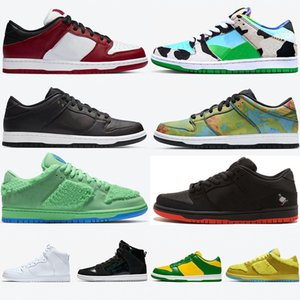 جديد SB المدربين دونك مكتنزة دونكر منخفضة تزلج أحذية رياضية ما الدب البرازيل دي لا الروح التعادل صبغ الرجال الاحذية dunks إمرأة حذاء