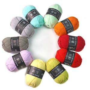 5wgx Cotton Blended 10pcs x 50grammi uncinetto filato Ago 3 millimetri a mano Knitting 4 Ply Discussione calda