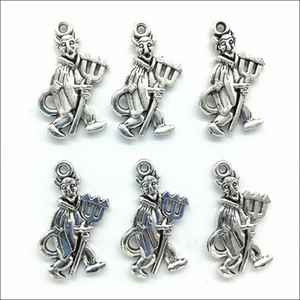 Wholesale Lot 100pcs Retro Devil Alloy Charms Pendants for Jewelry Making DIY Bracelet Necklace Earrings 26*15mm