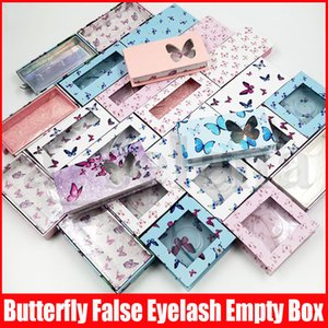 Multicolor farfalla Stampa ciglia Vuoto Imballaggio Caso Carta, Cartone, Ciglia finte Box Package Falsa Eye Lashes Packaging
