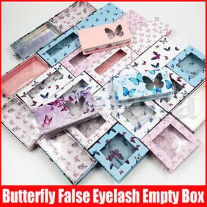 Multicolor borboleta Imprimir pestana vazio Embalagem Caixa Papel, Papelão, pestanas falsas Package Box Falso Eye Lashes Packaging
