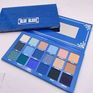 2021 New Stars Eye Makeup Palette 18 Colors Blue Blood Matte Shimmer Pigment Eyeshadow Eye Shadow Pressed Palettes