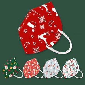 İyi Noeller Noel Baba kardan adam desgner yüz maskesi yetişkin KN95 karşıtı toz sis koruması siyah kırmızı facemask maske kn95