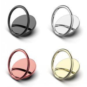 Mobile Cell Phone Grip Ring Holder Metal Universal 360 Degree Rotation Finger Socket Holder Magnetic Car Bracket Stand Accessories 4 Colors
