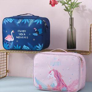 Cosmetic Bags unicorn cosmetic bag waterproof travel organizer toiletry bag Flamingo makeup pouch Multifunction large neceser unicornio