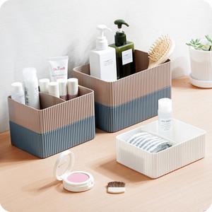 2 Maquiagem Grids Cesta de armazenamento Organizar Box Office Classificação armazenamento caso Cozinha Casa de banho recipiente plástico gavetas Y1113