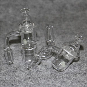 Popular Pattern Quartz Banger with spin carb cap and dab terp pearls 10mm 14mm 18mm male female quarts banger for bong dab rig