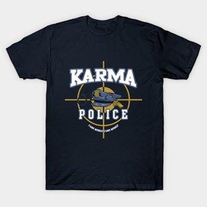 Gli uomini della maglietta della maglietta Radiohead Karma Police maglietta Donne