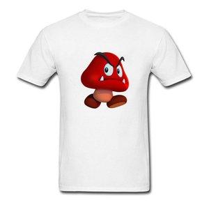 Camicia 2018 di nuovo arrivo del fumetto T di compleanno su misura maschile dono Tee Shirt fungo rosso Stampa divertente Felpa sportiva Felpa con cappuccio Felpa con cappuccio