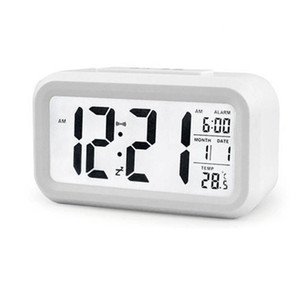 Sensor inteligente nightlight despertador digital com temperatura termômetro calendário, mesa silenciosa mesa mesa de cabeceira despertar snooze ewd2475