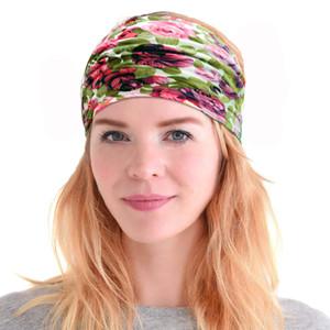 Designer Stirnband ethnische Blumenhaarband gedruckte Breite Kopfbänder Retro Sport Yoga Bandanas Haarschmuck 45 Design optional
