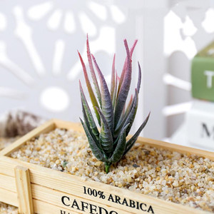 Popular Artificial Aloe Plants Bonsai Succulents Flower Christmas Halloween Wedding Party Fake Plants Home Garden Decoration