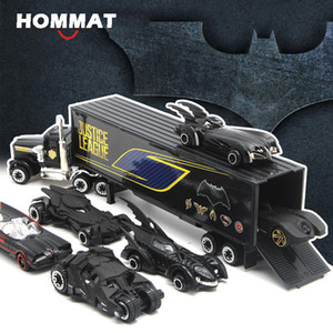 Track HOMMAT Weels 1:64 Scale Hot Batman wheel Batmobile Alloy Diecasts Toy Vehicles Car Model Toys For Children
