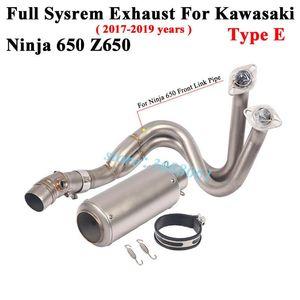 Полная система мотоцикла Yoshimura Exhaust побег SC для Ninja 650 ER6N Z650 2020 18 2020Modified Front Link трубы Глушитель